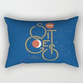 """""""So It Goes"""" — Kurt Vonnegut Rectangular Pillow"""