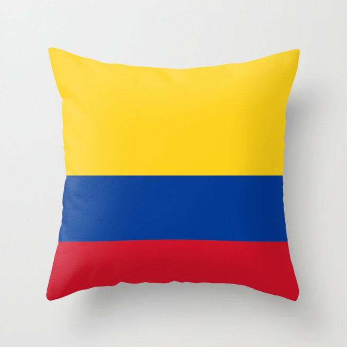 Flag of Colombia-Colombian,Bogota,Medellin,Marquez,america,south america,tropical,latine america Throw Pillow