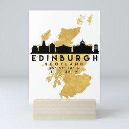 EDINBURGH SCOTLAND SILHOUETTE SKYLINE MAP ART Mini Art Print