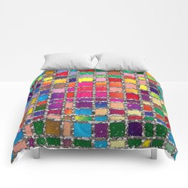 Stained Glass Window Multicolour Pattern Comforters