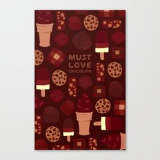 Must Love Chocolate Canvas Print