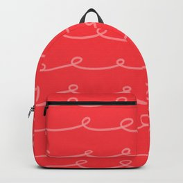Tomato Red Curlicues Backpack