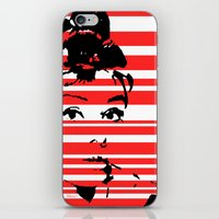 audrey iPhone & iPod Skins featuring Audrey by Heaven7