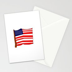 american flag III Stationery Cards