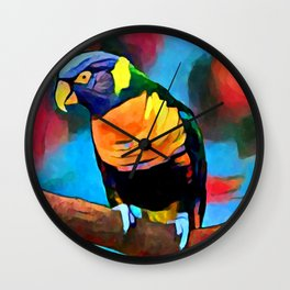 Rainbow Lorikeet 6 Wall Clock