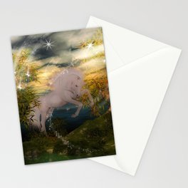 Einhorn im Wald Stationery Cards