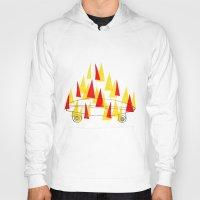 skateboard Hoodies featuring Flaming Skateboard by marcusmelton