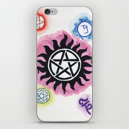 Supernatural Signs iPhone Skin