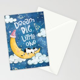Dream Big Little One- Cute Illustration Stationery Cards
