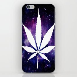 Weed : High Times Purple Blue Galaxy iPhone Skin