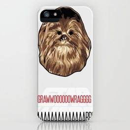 Chewbacca SW Poster iPhone Case
