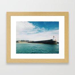 Lighthouse Brittany Framed Art Print
