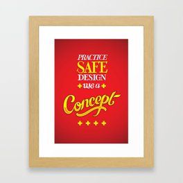 Type as Art III Framed Art Print