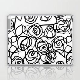 Bold Black Rose Print Laptop & iPad Skin