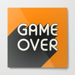 GAME OVER Metal Print