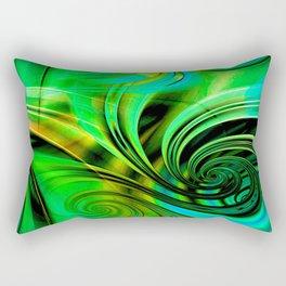 Curls Deluxe Green Rectangular Pillow
