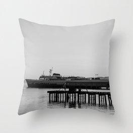 Coho at Dock Throw Pillow