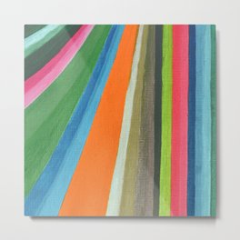 Transforming Vertical Stripes Metal Print