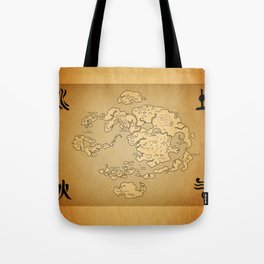 Avatar Last Airbender Map Tote Bag