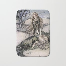 "Arthur Rackham Fairy Art from ""Undine"" Bath Mat"