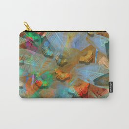 """""""Tropical Spring and butterflies"""" Carry-All Pouch"""