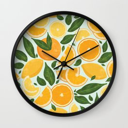 Summery Citrus Mood / Mint Splash Wall Clock