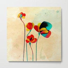 Exotic Watercolor Flower Metal Print