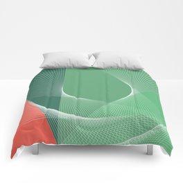 """garden lover"" geometrical minimal green art Comforters"