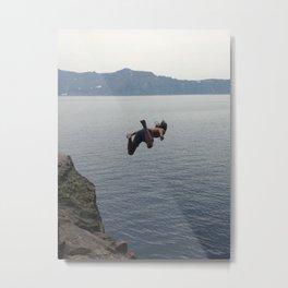 Free Falling (Crater Lake) Metal Print