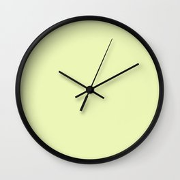 Pastel yellow color clear Wall Clock