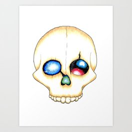 Galaxy Skull Art Print