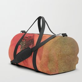 Vintage poppy 4 Duffle Bag
