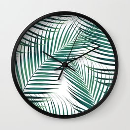 Palm Leaves - Green Cali Vibes #1 #tropical #decor #art #society6 Wall Clock