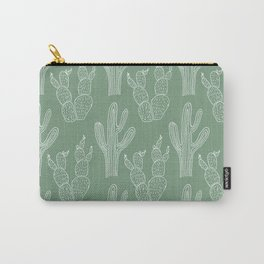 Green Cacti Carry-All Pouch