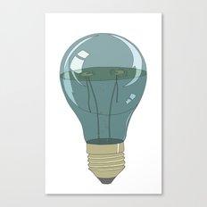 Life in a lightbulb. Night Canvas Print