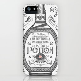 Legend of Zelda Red Potion Vintage Hyrule Line Work Letterpress iPhone Case
