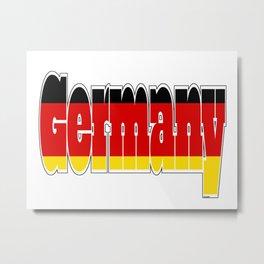 Germany Font with German Flag Metal Print