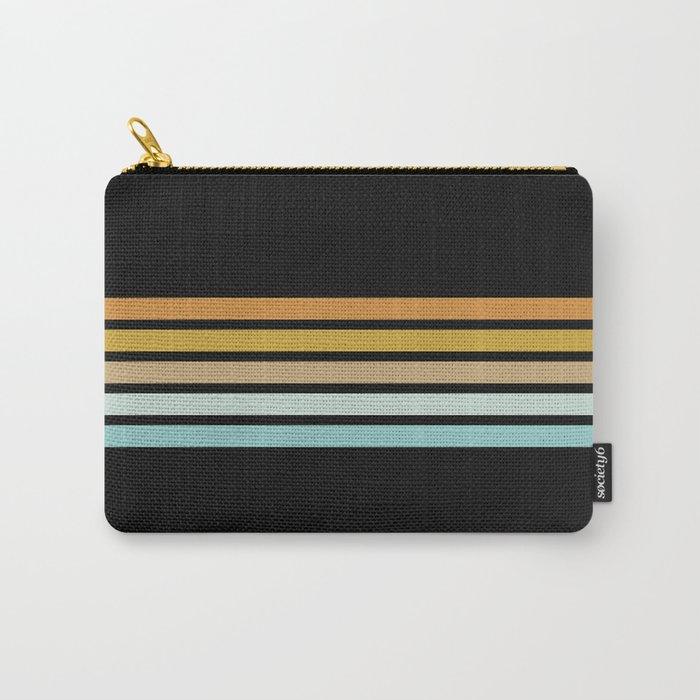 Retro Sunshine Stripes Carry-All Pouch