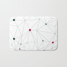 Triangle pattern background in line. Colorful mosaic banners. Vector illustration with graphic lines Bath Mat