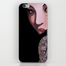 Black Geisha iPhone & iPod Skin