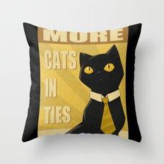 Cats in Ties - PSA Throw Pillow