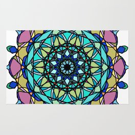 element colors ornamental mandala Rug