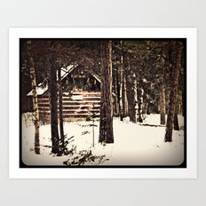 winter refuge Art Print