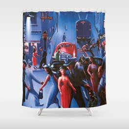 Bronzeville at Night by Archibald Motley Shower Curtain