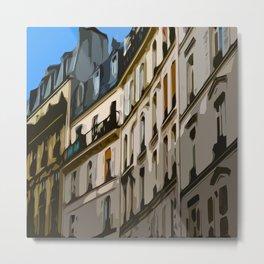 Paris Houses Metal Print