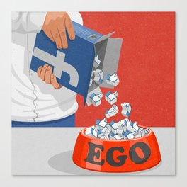 Give your ego some likes Canvas Print