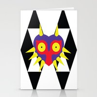 majora Stationery Cards featuring Minimalist Majora by Bradley Bailey