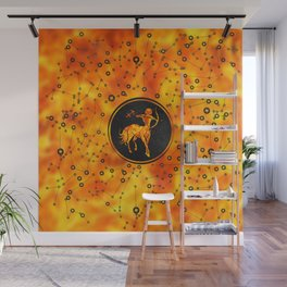 Sagittarius Zodiac Sign Fire element Wall Mural