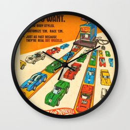 1970 American Issue Vintage Hot Wheels Redline Factory Poster Wall Clock