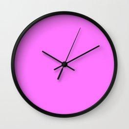 Fuchsia Pink - pink Wall Clock